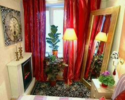 Переделанная комната с камином