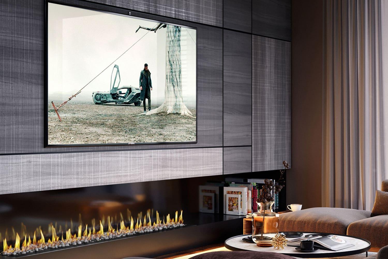 фото камин под телевизором