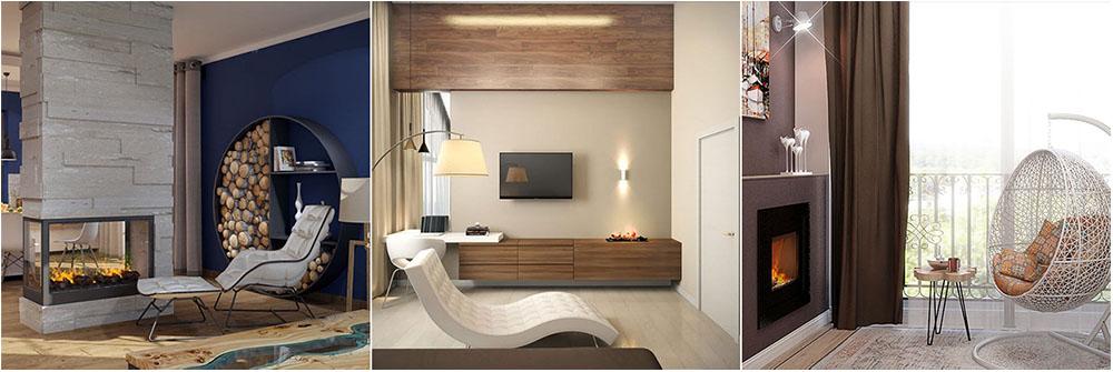 маленькие спальни с камином